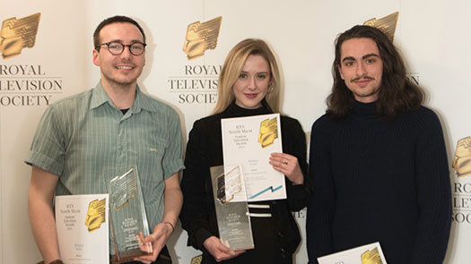 Danielle Swindells, Joe Wilson and Thomas Payton-Greene win RTS award for their documentatry